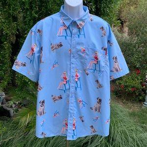 RSVLTS Roosevelt's The Sandlot Button Shirt XXL